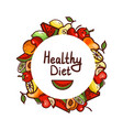 healthy food diet vector image vector image