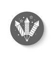 holiday firework icon with rockets or firecrackers vector image
