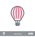 hot air balloon outline icon summer vacation vector image vector image