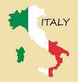 italy map with flag inside italy map map vector image vector image