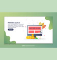 landing page template pay per click modern vector image vector image