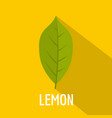 lemon leaf icon flat style vector image vector image