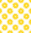 lemon seamless pattern white background vector image vector image