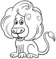 lion comic animal character cartoon color book vector image vector image