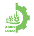 logo template for agro company green isolated icon