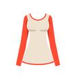 longsleeve fashion women clothes vector image