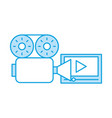 media player isolated icon vector image vector image