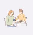 medical checkup blood pressure concept vector image