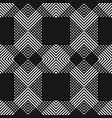 monochrome seamless pattern with cross diagonal vector image vector image