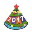 New Year greeting card design vector image