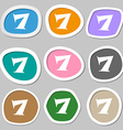 number seven icon sign Multicolored paper stickers vector image vector image