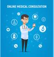 online medicine doctor vector image
