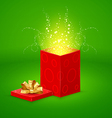 Open magic Gift box vector image vector image