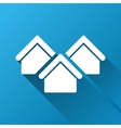 Real Estate Gradient Square Icon vector image