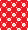 Red seamless pattern with cute sheep vector image vector image