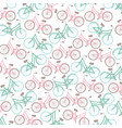 retro bicycles vehicles pattern background vector image
