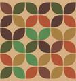 retro pastel seamless floral geometric pattern vector image