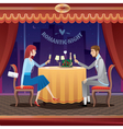 Romantic date in a restaurant vector image vector image