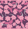 seamless pattern abstract flower and leaf vector image
