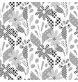 seamless pattern with black and white abstract vector image vector image