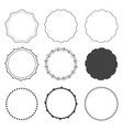 set of nine design frames borders circles vector image vector image