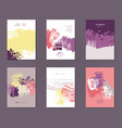 set of postcards vector image vector image