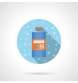 Shower gel round flat color icon vector image vector image