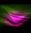 smooth light effect straight lines on glowing vector image vector image