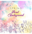 spring floral template vector image