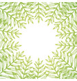 square frame of golden tropical leaves on white vector image vector image