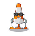 super cool traffic cone on made in cartoon vector image