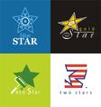 symbols star vector image vector image