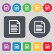 Text file icon sign A set of 12 colored buttons vector image vector image