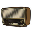 the hand drawing of a retro radio vector image vector image