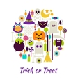 Trick or Treat Objects over White vector image