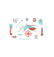 virus or disease transmitted mosquito concept vector image