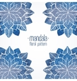 Watercolor floral blue pattern vector image vector image