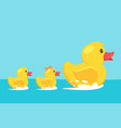 yellow rubber duck with family vector image vector image
