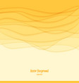 Abstract background Yellow waves vector image