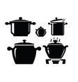 Cooking pan icon vector image