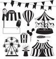 Fun Fair and Circus Collection vector image