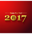 2017 new year with chinese symbol roosteryear vector image vector image