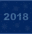 2018 made of snowflakes new year card vector image