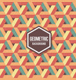 abstract geometric background for design retro vector image vector image