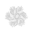 abstract monochrome floral composition vector image vector image