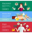 Allergy Banners Set vector image vector image