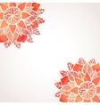 Background with watercolor red flowers pattern vector image vector image