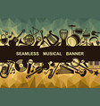 banner with musical instruments vector image vector image