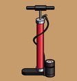 Bicycle Hand Air Pump vector image