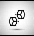 bicycle pedals bicycle accessories icon vector image vector image